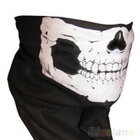 Skull Bandana Bike Motorcycle Helmet Neck Face Mask Paintball Ski Sport Headband = 1645648388