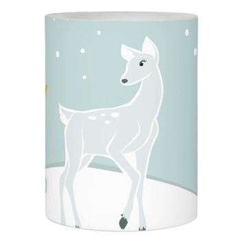 Snowy Deer Flameless Candle