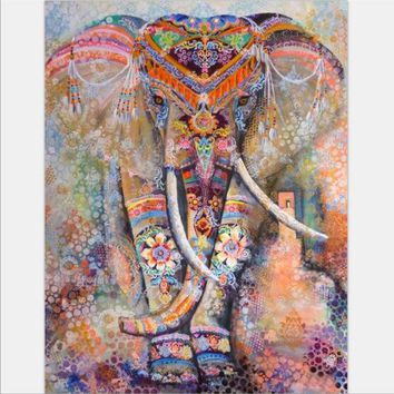 LMF9GW Beach towel Elephant Tapestry Colored Printed Decorative Mandala Tapestry Indian 130cmx150cm 153cmx203cm Boho Wall Carpet