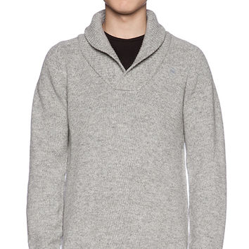 G-Star Gammit Shawl Collar Sweater in Light Gray