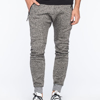 Uncle Ralph Heathered Zip Mens Jogger Pants Light Grey  In Sizes