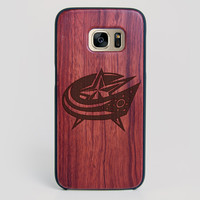 Columbus Blue Jackets Galaxy S7 Edge Case - All Wood Everything