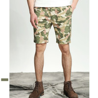 Casual Summer Camouflage Rinsed Denim Weathered Vintage Pants [10422070083]