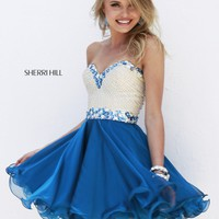 Sherri Hill 1929 Two Tone Short Prom Dress