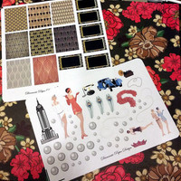 68 kiss cut and ready to peel off 1920s layout Stickers! Perfect for your Erin Condren Life Planner, Filofax, Kikkik, Plum Paper