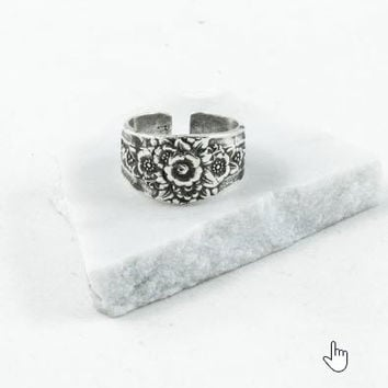Silver Spoon Adjustable Ring - Eliza