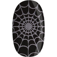 Skinz Nail Decals 24 Count Black with Silver Spiderwebs