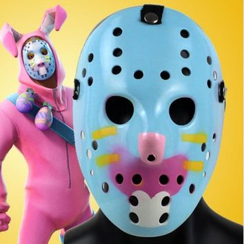 Adult Game Battle Royale Rabbit Raider Mask Cosplay Bunny Face Masks ABS Helmet Halloween Party Prop