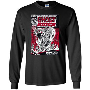 Marvel Ghost Rider Comic Book Cover Print Graphic T-Shirt