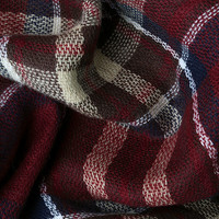 Plaid a Good Time Burgundy Plaid Scarf