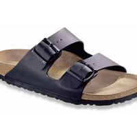 Love Birkenstock Arizona Birko-Flor in Black (Classic Footbed - Suede Lined)
