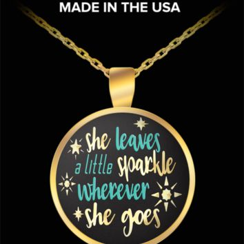 She leaves a little sparkle wherever she goes - pendant necklace