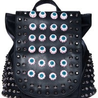 ROMWE | Riveted Eyeball Embellishment Backpack, The Latest Street Fashion