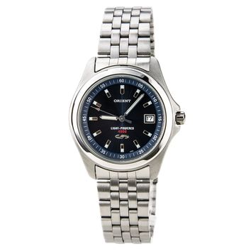 Orient PVD09004D Men's Solar Cell Energy Stainless Steel Blue Dial Watch