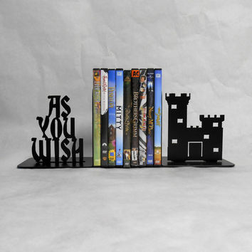 As You Wish, Metal Bookends, Castle, Movies, Books, The Princess Bride, Organizer