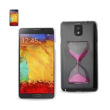 Reiko REIKO SAMSUNG GALAXY NOTE 3 3D SAND CLOCK CLEAR CASE IN HOT PINK