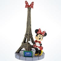 Disney Parks Epcot Paris Minnie Mouse With Tower Eiffel with Bow Figurine New