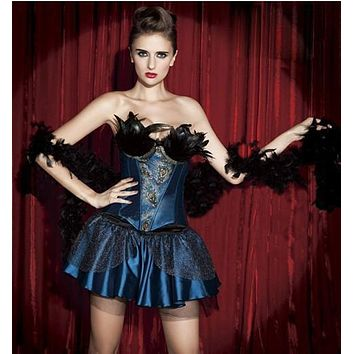 instyles free shippingfree instylesSexy Halloween Burlesques Corset Dress Basques Skirt Lingerie Pretty Costumes Set 1289 S M L