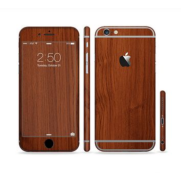 The Rich Wood Texture Sectioned Skin Series for the Apple iPhone 6 Plus