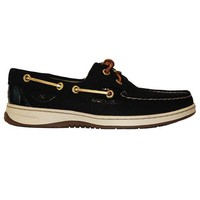 Sperry Top Sider Bluefish   Micro Dot Black Leather Boat Shoe
