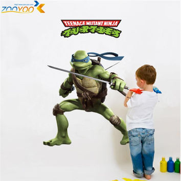 Memories of childhood teenage mutant ninja turtles wall decals zooyoo031 decorative sticker kids room removable cartoon wall art SM6