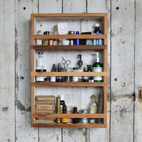 Apothecary Cabinet made of reclaimed Cypress and milkpaint by Peg and Awl