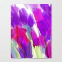 Meadow Flowers Abstract 2 Canvas Print by Jen Warmuth Art And Design