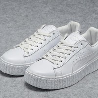 Puma Fenty by Rihanna All White Creepers Men's Women's Leather Shoes