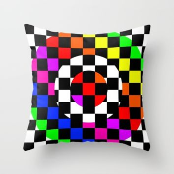 Triggle | Colorful Secret Geomoetry | Play Throw Pillow by Azima