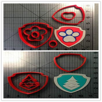 Cartoon TV Everest Badge Custom Made 3D Printed Cookie Cutter Stamp Fondant Cupcake Top Cookie Cake Stamp Kitchen Accessories