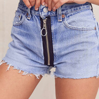 Urban Renewal Recycled Levi's Exposed Zipper Denim Short | Urban Outfitters