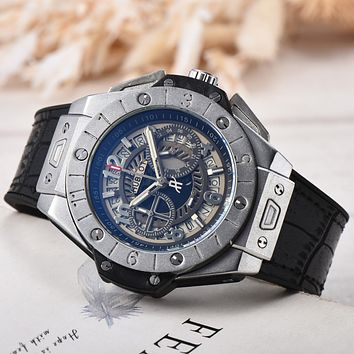 8DESS Hublot Men Fashion Quartz Movement Wristwatch Watch