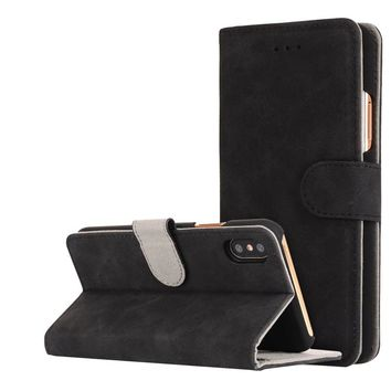 Stylish Stand Wallet Phone Cover Case for iPhone X