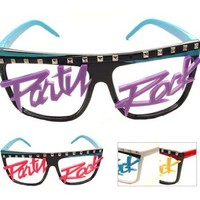 Punk Spike Glasses~ Party Rock Glasses~ Mustache Glasses~ Retro 80's Neon~ Choose Your Color & Style!!