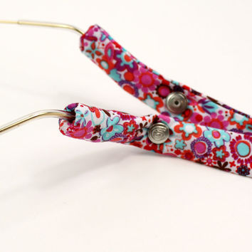 Floral Sunglass Straps in Pink and Blue by CottonSnaps
