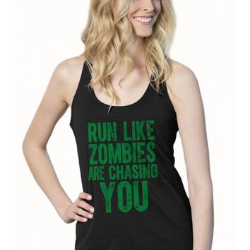 Run Like Zombies Are Chasing You Terry Tank Top