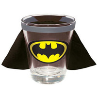 BATMAN CAPED SHOT GLASS (DC COMICS)