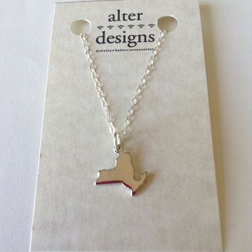 New York Necklace, New York State Necklace, Gold New York Necklace, Silver New York Necklace, New York Jewelry
