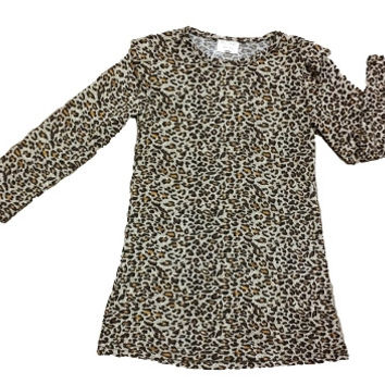 Cheetah Print Long Sleeve Dress