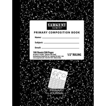 100 Sheets Hard Cover Primary Ruled Composition Notebook