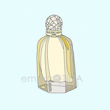 ONETOW balenciaga perfume fashion illustration art print 2