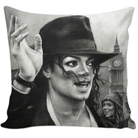 Michael Jackson Drawing 1 Couch Pillow