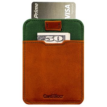 Card Blocr Pull-Tab Minimalist Wallet Front Pocket Design | Slim EDC RFID Blocking Leather Wallet