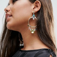 ASOS Summer Jewel Hoop Earrings at asos.com
