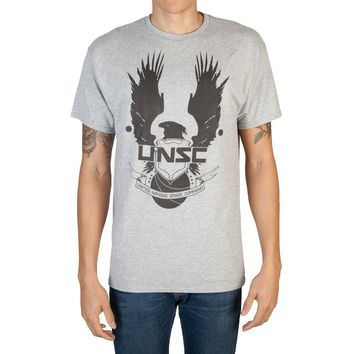 Halo United Nations Space Command Athletic Heather T-Shirt