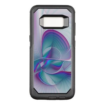Colorful Modern Pink Blue Turquoise Fractal Art OtterBox Commuter Samsung Galaxy S8 Case