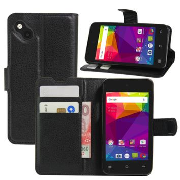 BLU Advance 4.0 L2 Case, Fettion Premium PU Leather Wallet Phone Protective Case Flip Cover with Stand Card Holder for BLU Advance 4.0 L2 Smartphone (Wallet - Black)