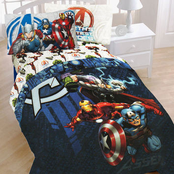 Marvel Comics Avengers Bedding Set Earth's Mightiest Superheroes Comforter and Sheet Set: Twin