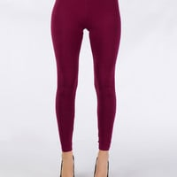 Solid Color Leggings - Clothing