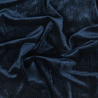 Navy Square Embossed Rayon Velvet